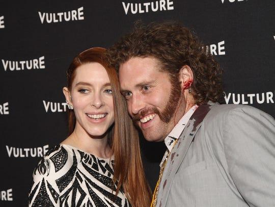 Kate Gorney and T.J. Miller at Vulture Awards Season