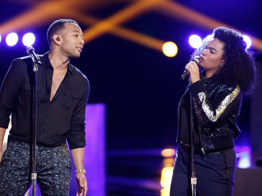"John Legend and Wé McDonald on ""The Voice."""