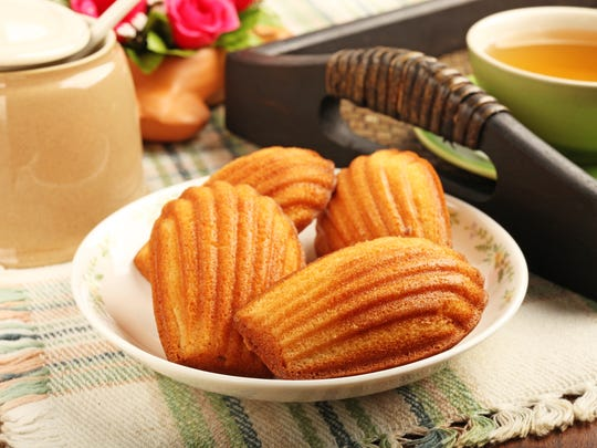 Madeleine cookies are a popular snack, especially in France.