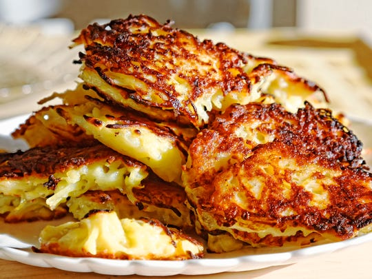 Homemade potato pancakes. Belarusian cuisine. Traditional
