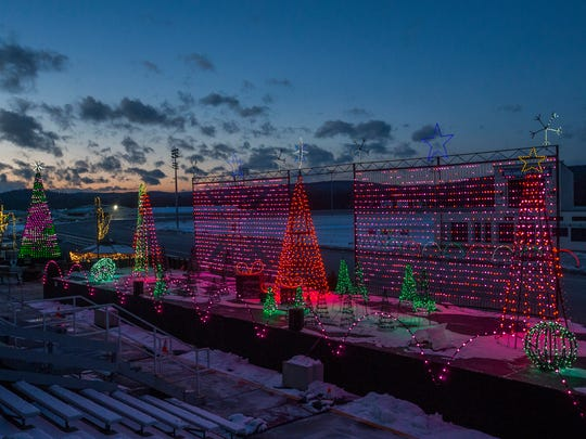 The Tioga Downs light display is made up of 55,000