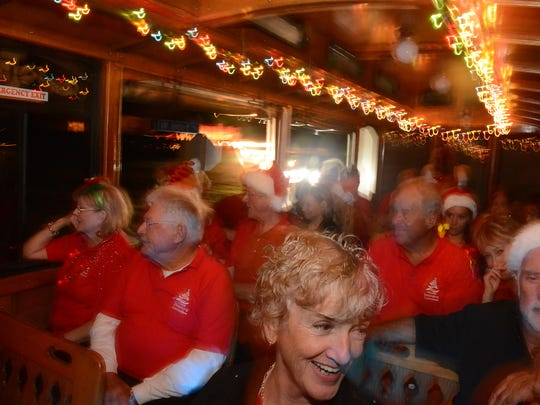 The Holiday Lights Tour of Naples is a two-hour trolley ride along Third Street South and Fifth Avenue South. Then it is on to Victoria Park, one of Southwest Florida's most decorated neighborhoods. 6:30 to 8:30 p.m. $15. 1010 Sixth Ave. S., Naples. 239-260-3272. naples-transportation.com.
