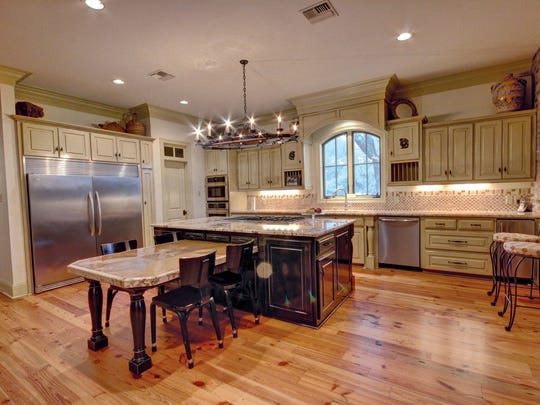 The massive kitchen space is large enough for any gathering.