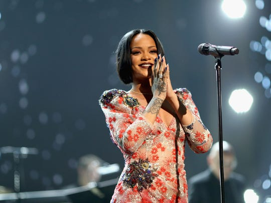 Rihanna performs during the 2016 MusiCares Person of