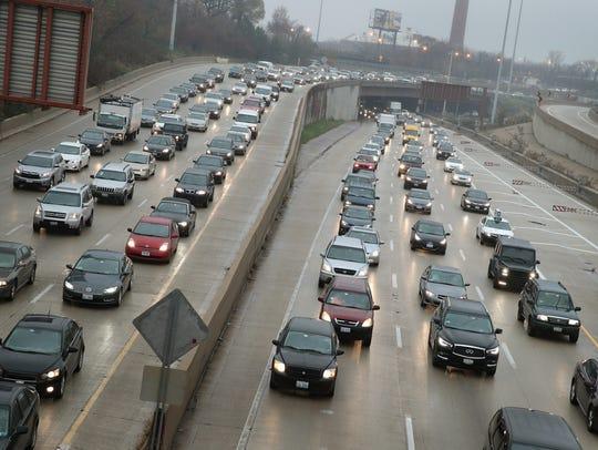 FILE -- cars sit in a traffic jam