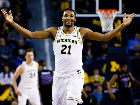 Former Hamilton Southeastern standout Zak Irvin leads the Wolverines in scoring.