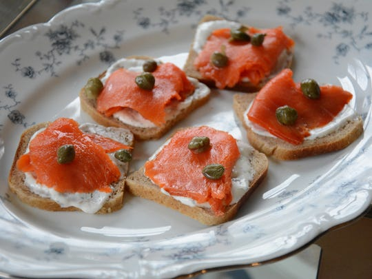 Smokes Salmon Canapés are an easy appetizer to whip up for unexpected guests.