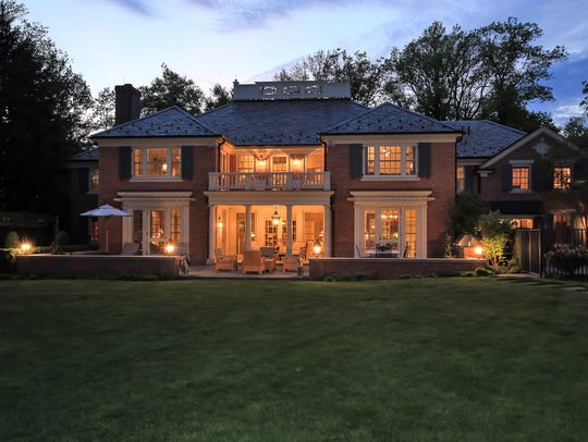 This seven-bedroom estate in Short Hills has a pool