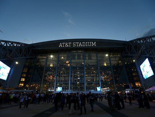 A general view of AT&T Stadium before a game between