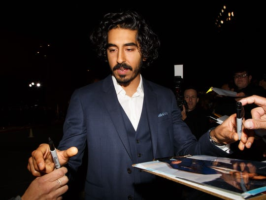 Dev Patel signs autographs at the Palm Springs International
