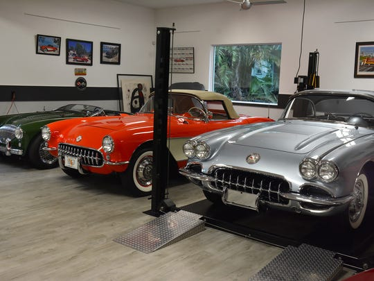 Owning 16 collectible – and drivable – cars, plus six classic motorcycles, Marco Islander Bill Young built a house to hold them, with the entire ground floor laid out as a 16-car garage.