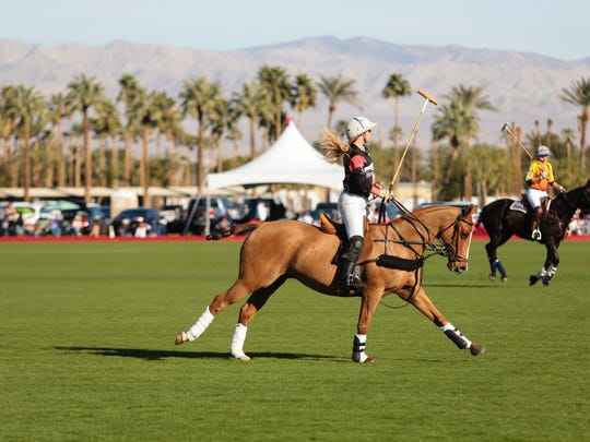 The Empire Polo Club in Indio, Calif. holds its opening day matches, Sunday, January 8, 2017.