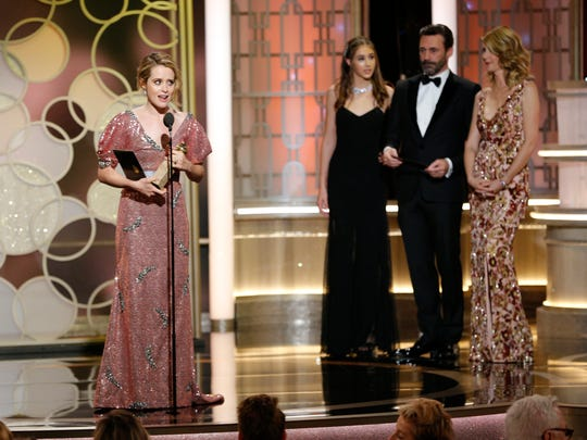 Claire Foy won best actress in a TV drama series at the Golden Globes.
