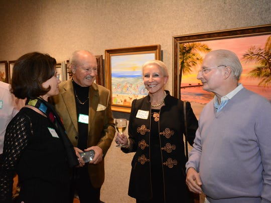 "The Marco Island Center for the Arts held a reception Tuesday evening for an exhibit of paintings by Betsy Ross Koller, showcasing her ""naive"" interpretations of rustic scenes, many of them snowscapes, at their gallery on Winterberry Drive."