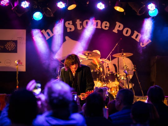 """Light of Day presents """"Asbury Angels"""" at the Stone Pony. Bitter Crush performs. Asbury Park, NJFriday, January 13, 2017.@dhoodhood"""