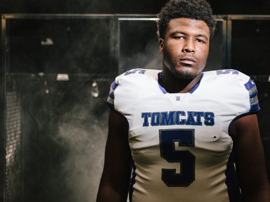 Emmit Gooden committed to play college football for Mississippi State and was the All-West Tennessee Football Lineman of the Year after having a stellar season for Haywood.