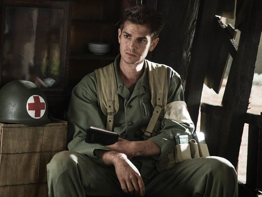 Andrew Garfield stars as a World War II medic who won't touch a gun in 'Hacksaw Ridge.'
