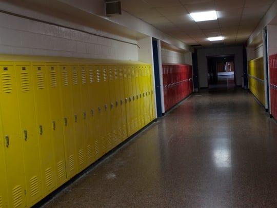 Inside the now-vacant Northwestern Elementary School