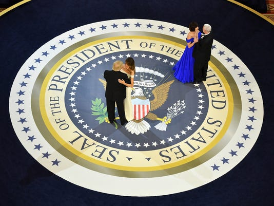 DC: President Trump at the A Salute to Our Armed Forces Ball in Washington, D.C.