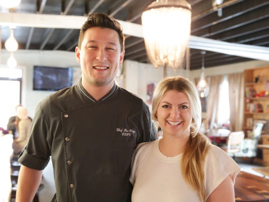 Owner/operators and Executive Pastry Chef, Ben Hardy, left, and Alison Keefer, right, have opened The Gallery Pastry Shop, located on 54th St., just east of the Monon Trail in Indianapolis, Jan. 25, 2017.