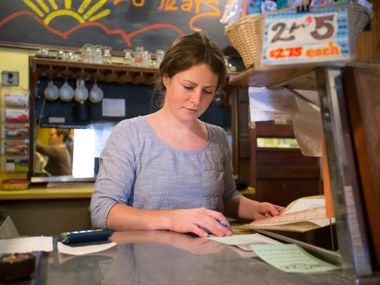 Whole in the Wall waitress Melissa Mischke, of Binghamton,
