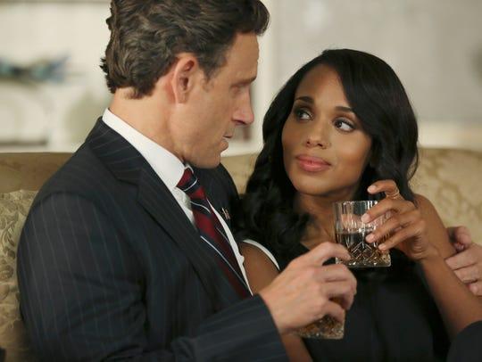 On 'Scandal' Olivia (Kerry Washington) and Fitz (Tony