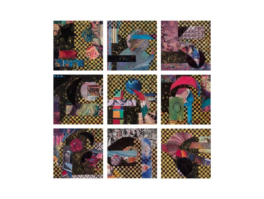 """The """"Checkerboard"""" series by artist Kathy Stark is"""