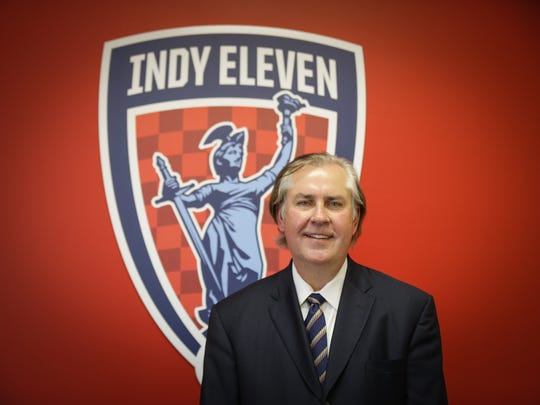 Indy Eleven President Jeff Belskus, shown here in the