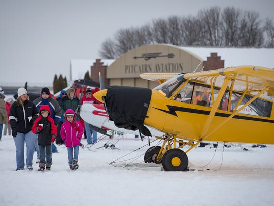 Twenty-eight skiplanes flew in for the annual EAA Skiplane