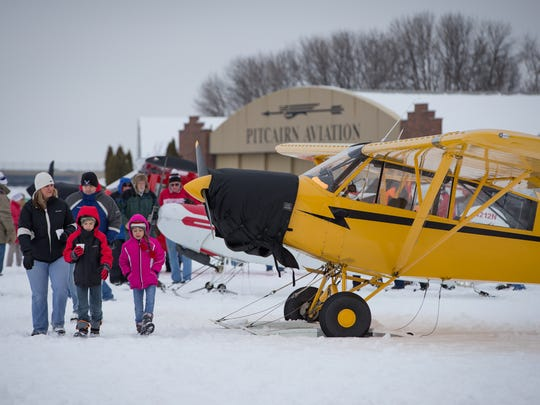Twenty-eight skiplanes flew in for the annual EAA Skiplane Fly-In last year. This year's event is Feb. 18.