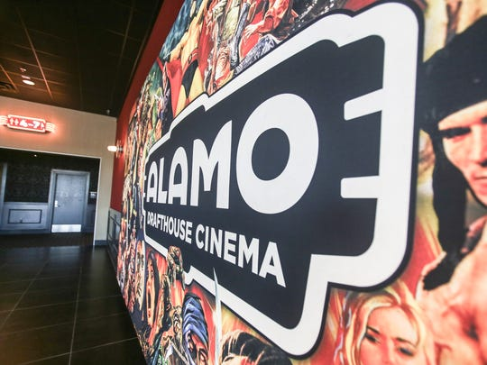One of the original murals decorating Corpus Christi's Alamo Drafthouse Cinema features images of iconic movie characters.