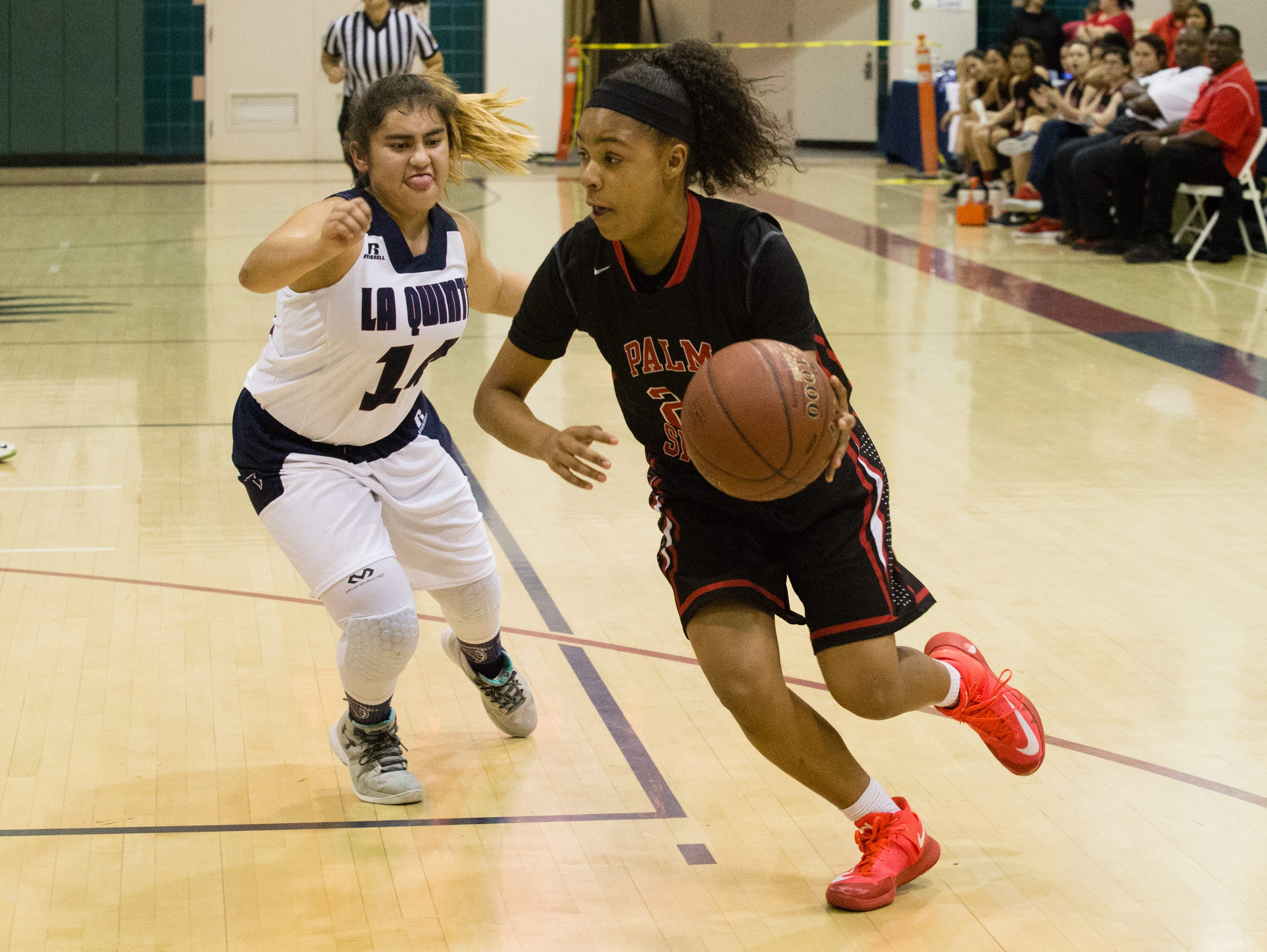 La Quinta girls basketball plays Palm Springs, Friday, Feb. 10, 2017.