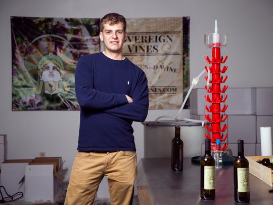 Binghamton University Kaelan Castetter, along with help from his father Jim Castetter, started Sovereign Vines, a hemp-infused winery, in Johnson City. The duo sources their wine from the Finger Lakes region and their hemp from Colorado.