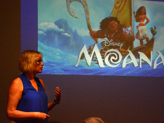 """Marine biologist and science educator Ellen Prager  talks about being a consultant for Disney's """"Moana."""" Prager spoke at the Rookery Bay Envioronmental Learning Center on Feb. 9 as part of the """"Tales from the Coast"""" lecture series."""