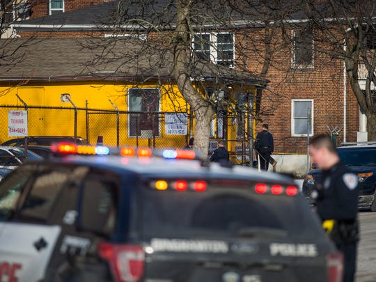 Police say at least four people were shot just before 3 p.m. Friday after a fight broke out inside a deli at 121 Susquehanna St. in Binghamton. None of the injuries were believed to be life threatening.