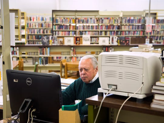 Jim Holley, 71, has worked as a librarian in Broome County for 50 years. Today, he works as a reference librarian at the Vestal Public Library.