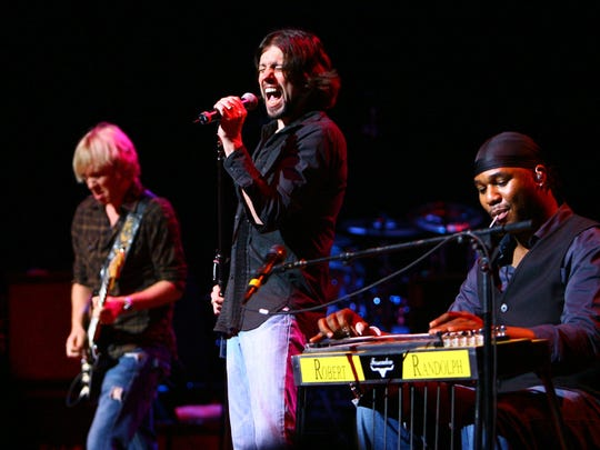 Guitarist Kenny Wayne Shepherd, singer Noah Hunt and guitarist Robert Randolph perform live during the Experience Hendrix Tour presented by Gibson Guitars at the Beacon Theater in 2007 in New York City.