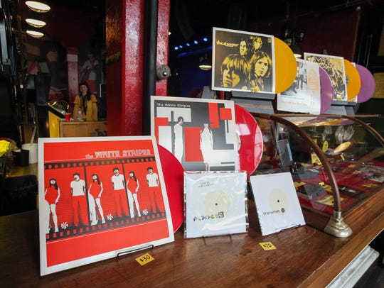 A collection of limited-edition vinyl records by Detroit