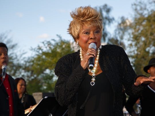 Thelma Houston performs at the Palm Springs Women in Film and Television's Oscar Party on El Paseo in Palm Desert, Sunday, Feb. 26, 2017.