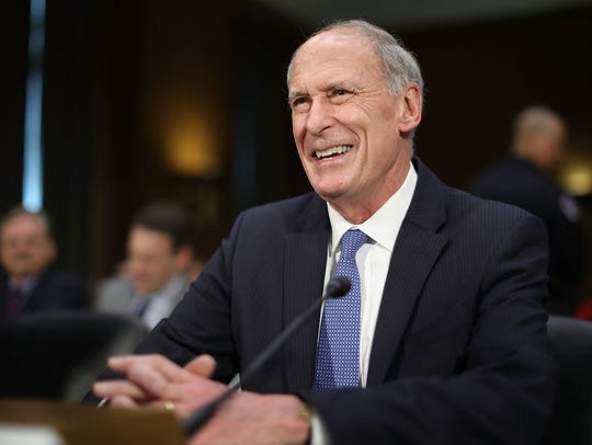 Former U.S. Senator Dan Coats prepares to testify during his confirmation hearing before the Senate Select Intelligence Committee to be the next Director of National Intelligence on Feb. 28, 2017, in the Dirksen Senate Office Building on Capitol Hill in Washington, D.C.