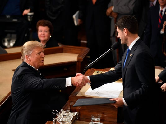 USP NEWS: DONALD TRUMP JOINT SESSION OF CONGRESS A ELN USA DC