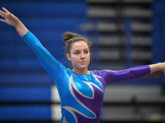 Senior Sommar Kaufmann will compete in the vault and floor exercise at the WIAA State Gymnastics Meet on Saturday.