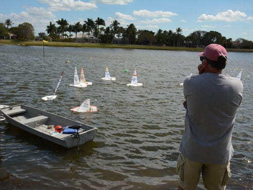 Small boats, big wind: Radio-controlled sailboats compete at