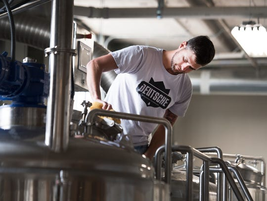 Michael Robinson, a partner of 13 Stripes Brewery,