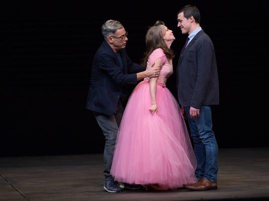"Joe Mantello, Sally Field and Finn Wittrock in ""The"