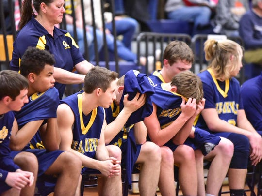 Greencastle-Antrim's boys basketball lost to Upper Merion, 62-46, during the first round of the PIAA Class 5A boys basketball playoffs.