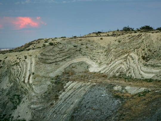 PALMDALE, CA - JUNE 28:  Layers of earthquake-twisted