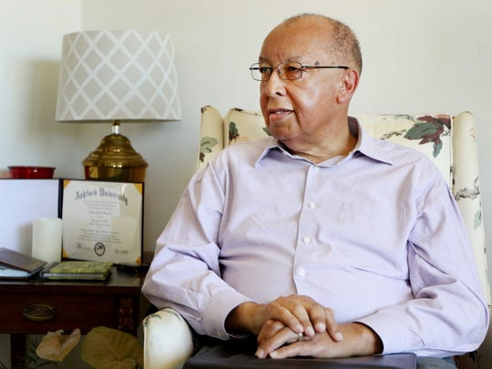 Kenneth Venable sits in his home in Staunton on Monday, Feb. 20, 2017 as he talks about his run for Staunton School Board and the decision made in January by the school board to fill a vacant seat with the nomination of Angela Whitesell.