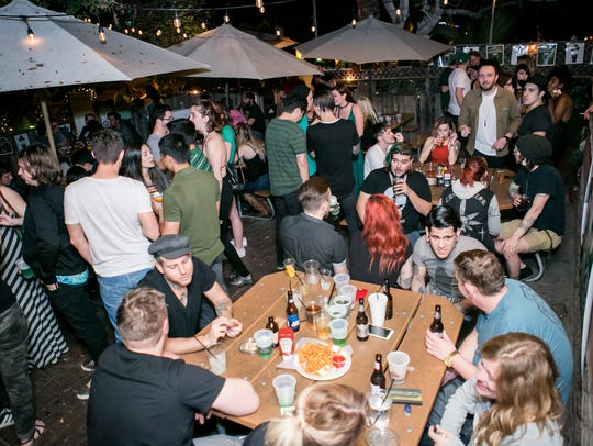 The patio was a hotspot during the St. Patrick's Day