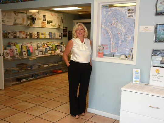 Dianna Dohm at the chamber office and visitor center on Collier Blvd. She has taken the reins at the Marco Island Area Chamber of Commerce, replacing retired executive director Sandi Riedemann.